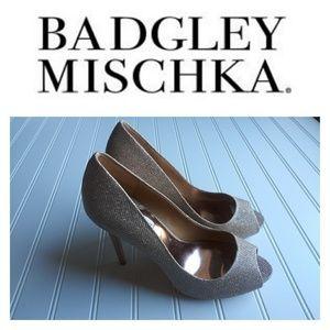 Badgley Mischka Ponderosa Chain Mesh Heels